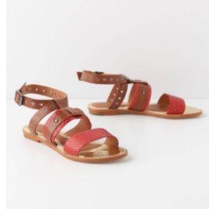LEIFSDOTTIR Anthropologie strappy leather sandals